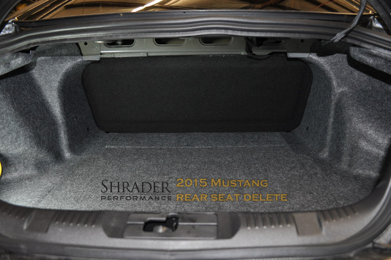 2015 19 Ford Mustang Rear Seat Delete Shrader