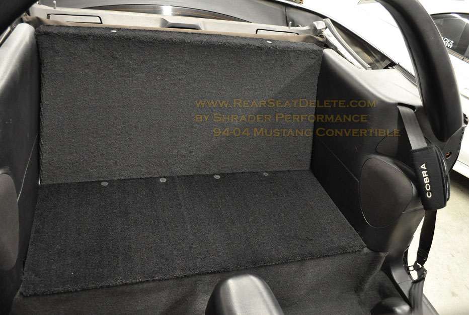 19942004 Ford Mustang Rear Seat Delete  Shrader Performance