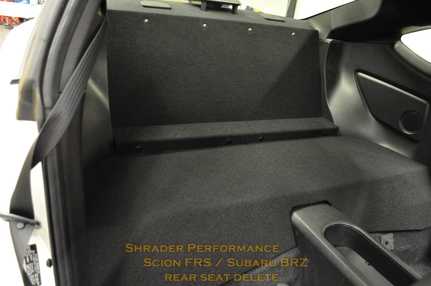 Scion Frs Rear Seat Delete on hidden car stereo system for sale