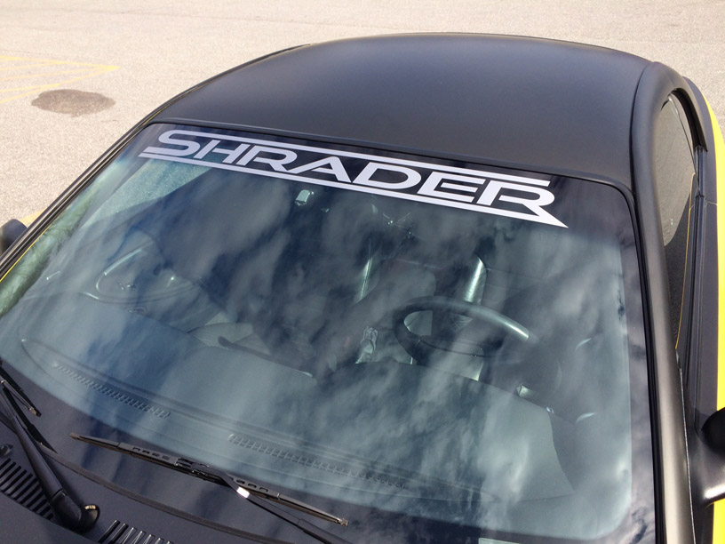 Shrader windshield banner BM for FB